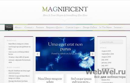 Magnificent - Премиум тема WordPress от ElegantThemes