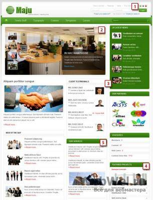Шаблон JV Maju (Joomla 1.6 and v.1.5)
