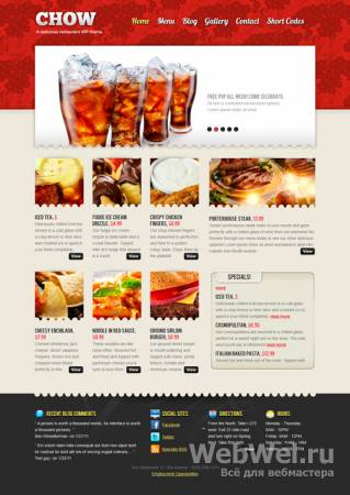 Chow - MojoThemes Wordpress Theme